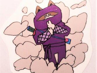 ドロン 忍者ステッカー イラスト シールの画像