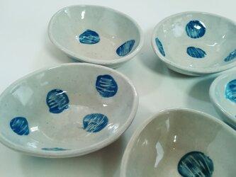 古代呉須化粧土のオーバル小鉢の画像