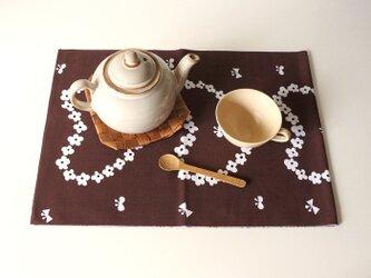 humming hreart てぬぐい (茶)の画像