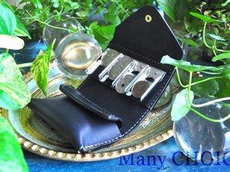 イタリアンバケッタ・エルバマット・コインキャッチャー財布(改)(紺)の画像
