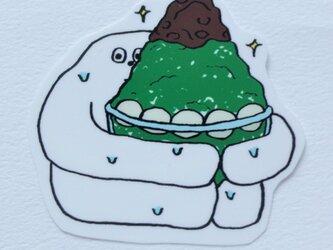 かき氷 ステッカー ゴーレム イラスト シールの画像