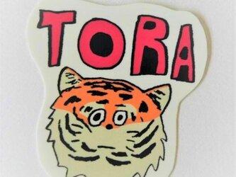 トラ ステッカー シール イラストの画像