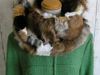 ¶ new antique fur ¶ いろいろミックスファーnejiriスヌード「arios」の画像