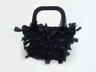 [cyane]basket bag /black × handle:blackの画像