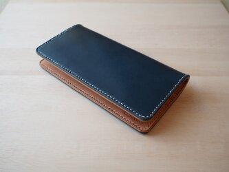 ロングウォレット 長財布 手縫い 【名入れ・選べる革とステッチ】の画像