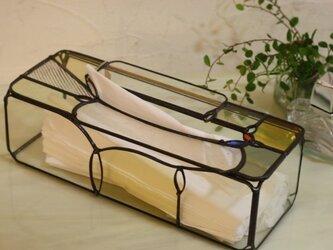ティッシュボックス*スリム*ステンドグラスの画像