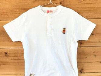 屋台・山車まつり 刺繍 ヘンリーネックTシャツの画像