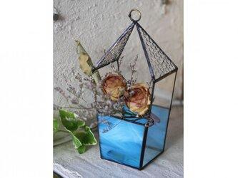 ハウス型プランター*ステンドグラス*Lightslaboの画像