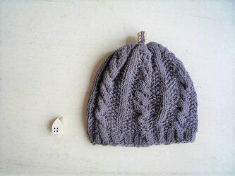 子供用コットン帽子point[ダークグレー]の画像