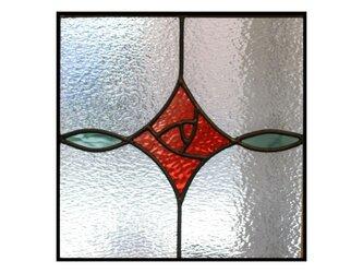 あかり窓*赤いバラ*ステンドグラス*Lightslaboの画像