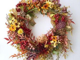 Autumn leaves wreath Ⅱの画像