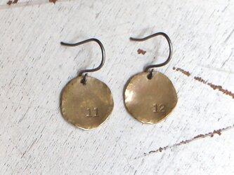 真鍮ピアス 数字(フック)Sの画像