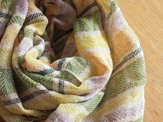【手織り】リネンのストール#03の画像