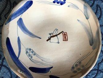 再・再出品 麦と大吉うさぎの八寸皿の画像
