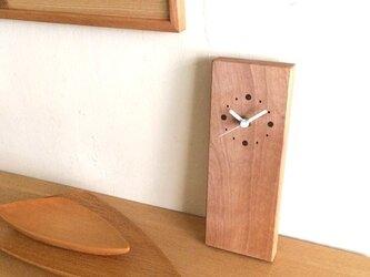 縦型 時計 カバ材の画像