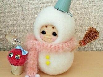 SALE ¥19,000→¥12,500 メルヘン♡レトロな雪だるま着ぐるみお猿さんの画像