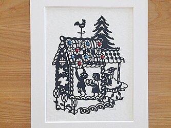 童話の切り絵『ヘンゼルとグレーテル』の画像