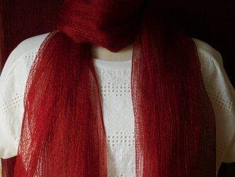 「色が変化する」シルクショール麴塵染 の画像