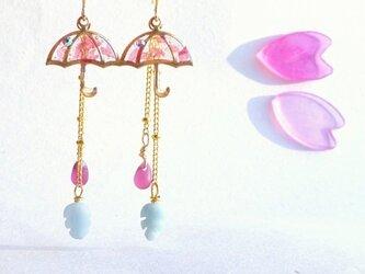 14KGF書籍掲載☂UMBRELLA Earrings*桜吹雪*の画像