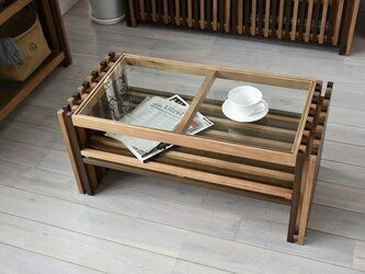 Walnut Brown / Villa Glass Low Tableの画像