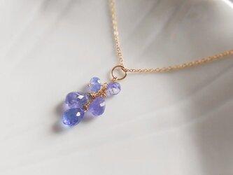 〈14kgf〉宝石質タンザナイトのネックレス用チャームの画像