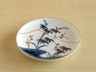 天睛富士金彩笹絵 丸小皿の画像