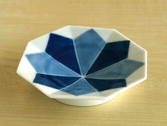 二色濃雪結晶 八角手塩皿の画像