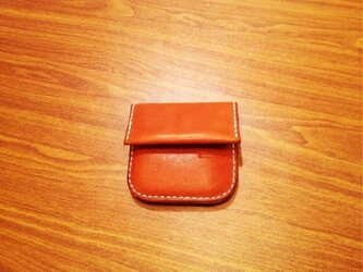 栃木レザーのコインケース。の画像