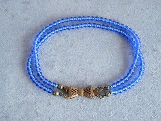 VINTAGE リボンブレスレット ブルーの画像