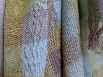 手織りストール大判~草木染・綿~の画像