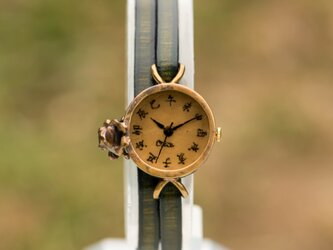 沼を覗きたい蛙腕時計SSの画像