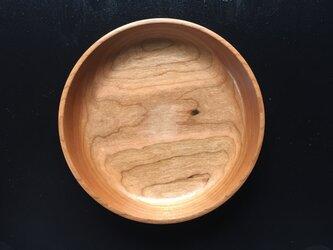 チェリーの木の丸皿の画像