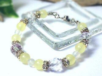 【melissa luce 天然石 パワーストーン ブレスレット】レモンカラークォーツァイトの画像