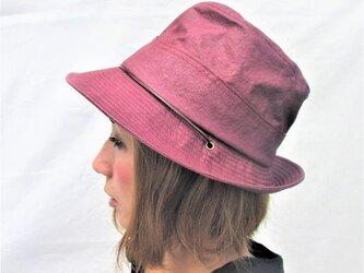 機能性和紙帽子テンガロンハット赤紫色の画像