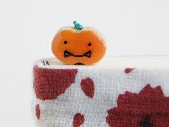 木製ハロウィンかぼちゃ しおり(ブックマーカー)の画像
