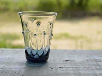 雫のグラス(ブルーグレー)の画像