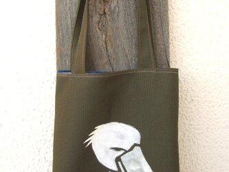 ランチタイムバッグ ニヒルなハシビロコウの画像