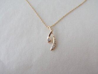 kizuna pendant diamond K10YGの画像
