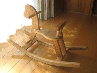 タモの木の木馬おもちゃ(大きめ)の画像