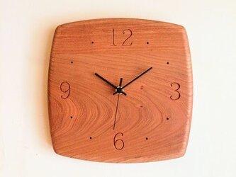 掛け時計 sally チェリー材の画像