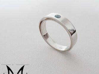 Interspace Ring (Wide):銀925ブルートパーズリ(御影宝飾工房)の画像