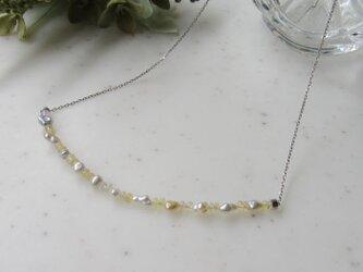 けし真珠とオパールのネックレス(SV)の画像
