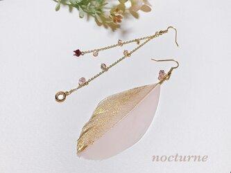 【14kgf】gold shower feather pierceの画像