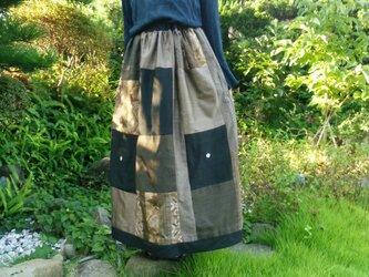 リバーシブル ロングスカートの画像