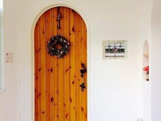 【受注製作】アーチドア/カントリー家具ローズモチーフナチュラルインテリア観音扉おしゃれな建具室内ドアの画像