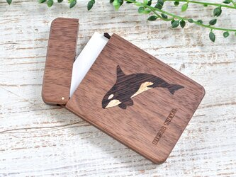 木製名刺入れ【シャチ】ウォールナットの画像