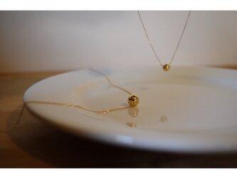 【月末セール】k18gold○ball_necklaceの画像