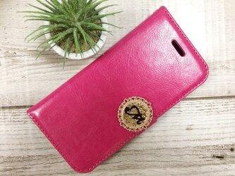 セール!スワロフスキーイニシャル iPhone7ケース ピンクの画像