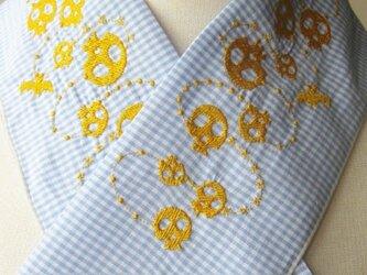 半衿・刺繍半衿・カジュアルなドクロの画像