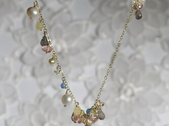 Gemstone アシンメトリーネックレスの画像